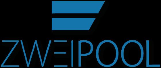 zweipool logo in blau mit schattierung